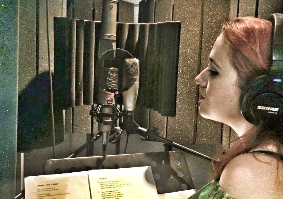 Stephanie Grace Kelly Rose Recording Vocals