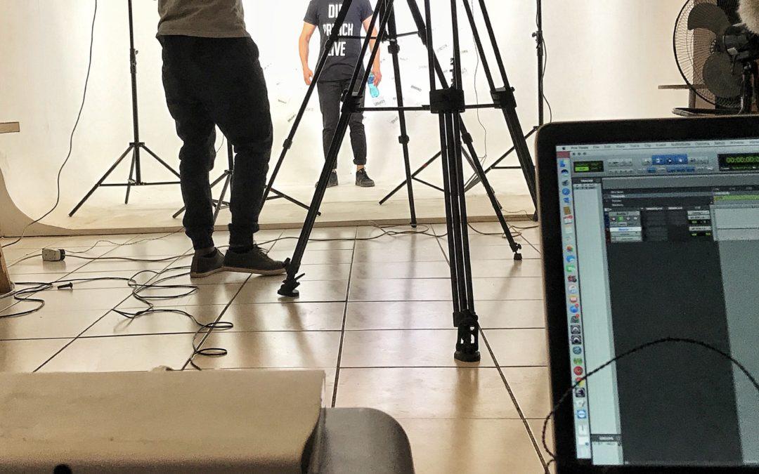 On site location recording for Chris Grobler's spoken word